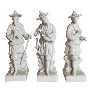 Blanc de Chine Chinoiserie Figurines - Set of 3