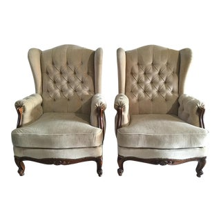 French Wingback Chairs - A Pair