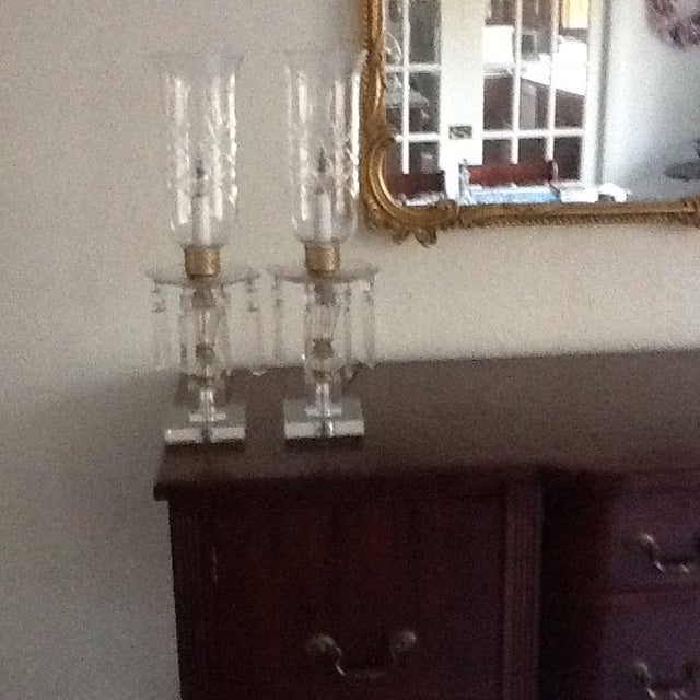 Image of 1960's Crystal Lamps - A Pair