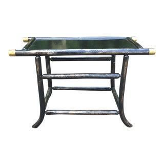 Black Lacquer Rattan Table