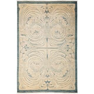 "Shalimar, Hand Knotted Art Nouveau Area Rug - 5' 1"" X 7' 8"""