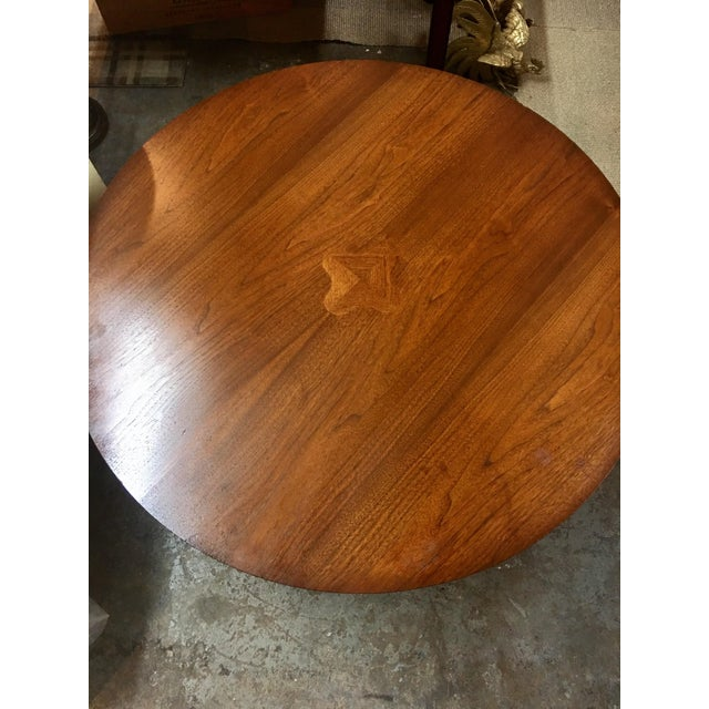 Mid-Century Danish Round Coffee Table - Image 6 of 8