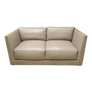 Donghia Modern Leather Sofa