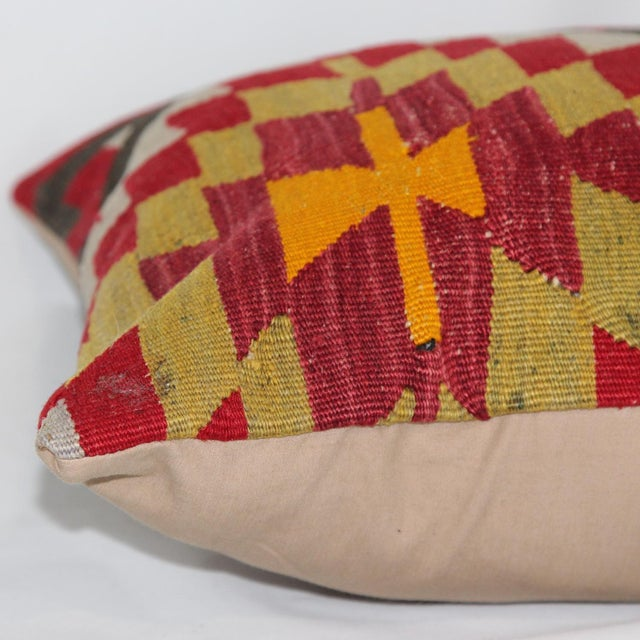 Turkish Handmade Kilim Pillow - Image 6 of 6