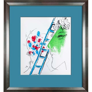 "1957 Marc Chagall ""The Ladder"" Original Limited Edition Lithograph"