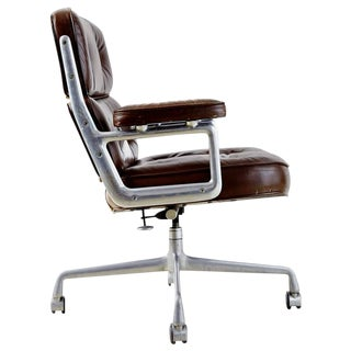 Brown Leather Time Life Executive Desk Chair by Charles Eames for Herman Miller