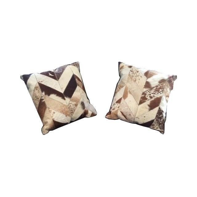 Nourison Cowhide Pillows - A Pair - Image 1 of 7