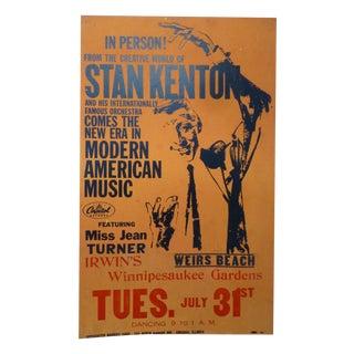 1950s Stan Kenton Lobby Card Show Poster