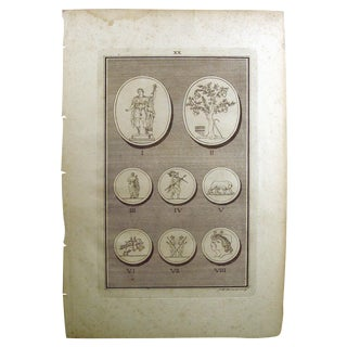1755 Engraving of Roman Medallions