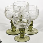 Image of 1960's Stem & Grape Etched Cordials - Set of 4