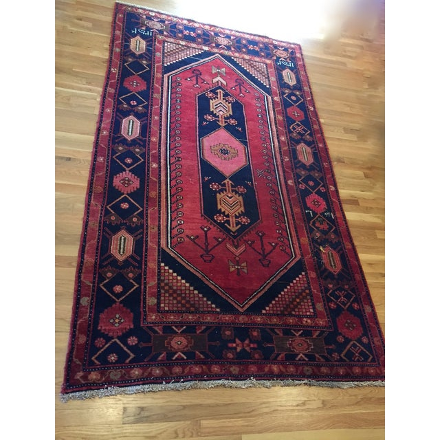 """Vintage Hand Knotted Turkish Rug - 4'11"""" x 8'11"""" - Image 6 of 10"""