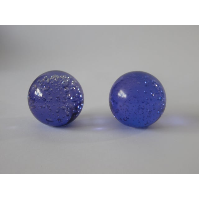 Image of Pair Controlled Bubble Glass Paperweight
