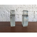 Image of Mid-Century Glass Owl Bookends by Blenko - a Pair