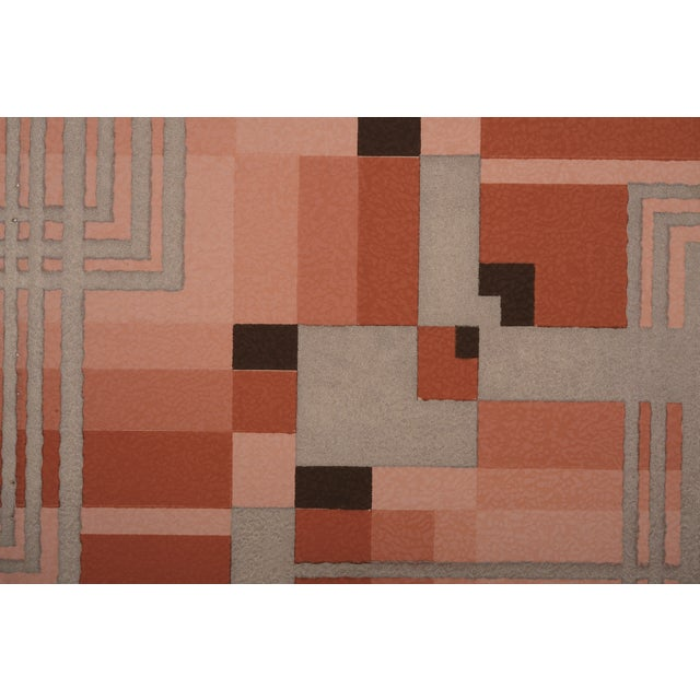 Silver Art Deco Geometric Wallpaper Sample - Image 1 of 2
