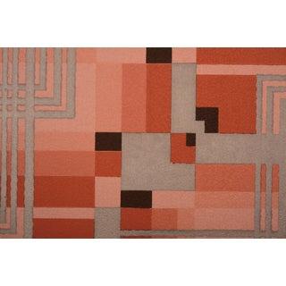 Silver Art Deco Geometric Wallpaper Sample