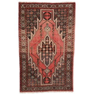 Vintage Hand-Knotted Wool Persian Hamedan Area Rug
