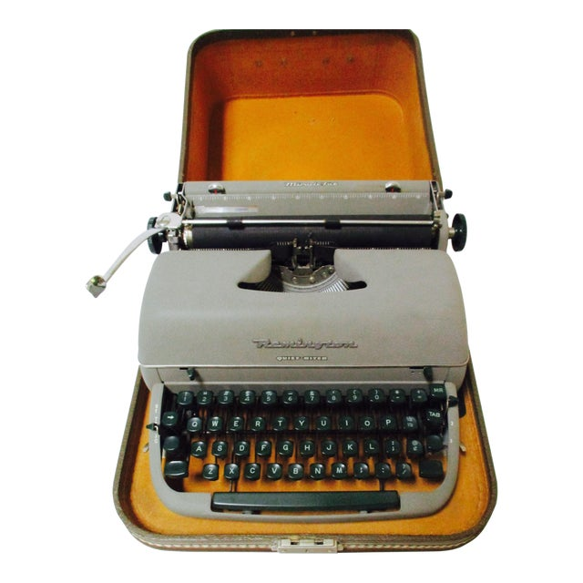 Vintage Remington Typewriter With Case - Image 1 of 9