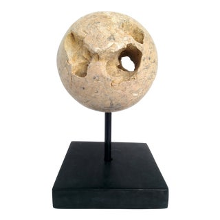 Volcanic Rock Sphere Sculpture