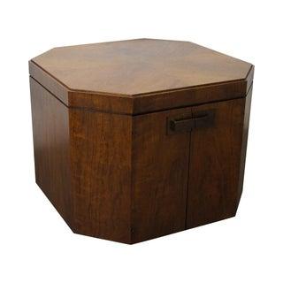 Mid-Century Modern Walnut Storage Cube Table