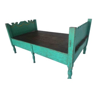 Folk Art Painted Guatemalan Bed or Daybed