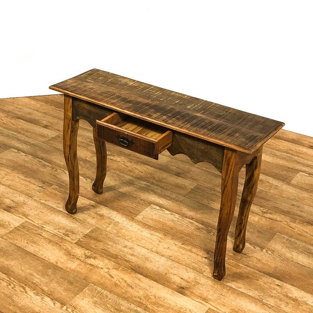 Reclaimed wood console table chairish for Table th width ignored