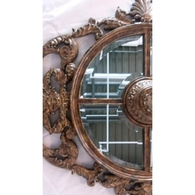 La Barge Ornate Baroque Gold Gilt Beveled Wall Mirror - Image 6 of 7