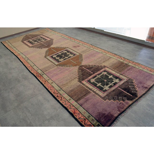 Hand Knotted Turkish Kars Rug - 5′9″ × 13′11″ - Image 3 of 11