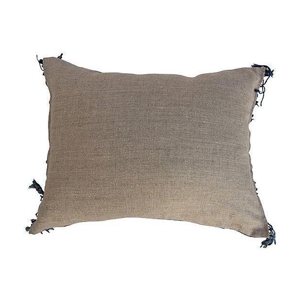 Indigo Batik Fringe Pillow - Image 5 of 5