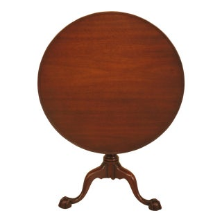 Kittinger Clawfoot Mahogany Tilt Top Table