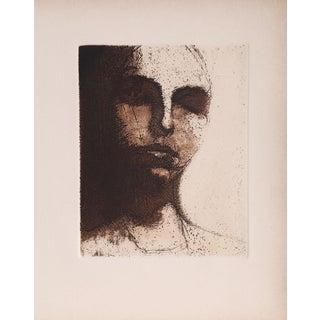 "Leonard Baskin ""Sleeping Portrait"" Etching"