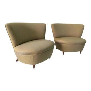 Gilbert Rohde Slipper Chairs, Pair