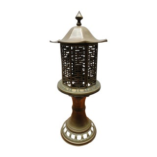 Mid-Century Chinese Style Solid Brass Table Lamp