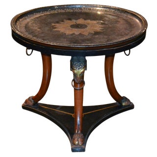 Unusual Italian Parcel Gilt Side Table