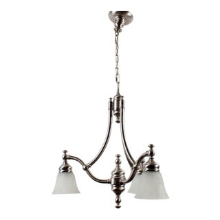 Pasquale Miranda Industries Brushed Metal 3-Lamp Chandelier