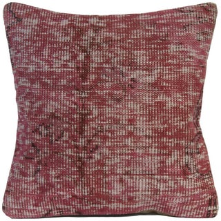 Vintage Handmade Overdyed Pink Pillow Cover