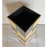 Image of Paul Evans Style Cork & Chrome Pedestal Plant Stand