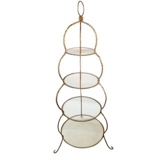 Golden Italian Braided Rope Etagere