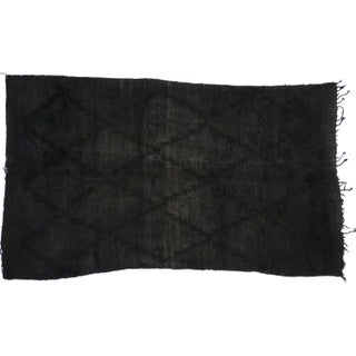 """Charcoal Vintage Berber Moroccan Rug With Modern Style - 5'1"""" X 8'10"""""""
