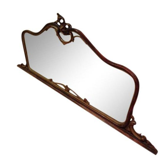 Antique Hand-Carved Wood Framed Mirror - Image 1 of 11