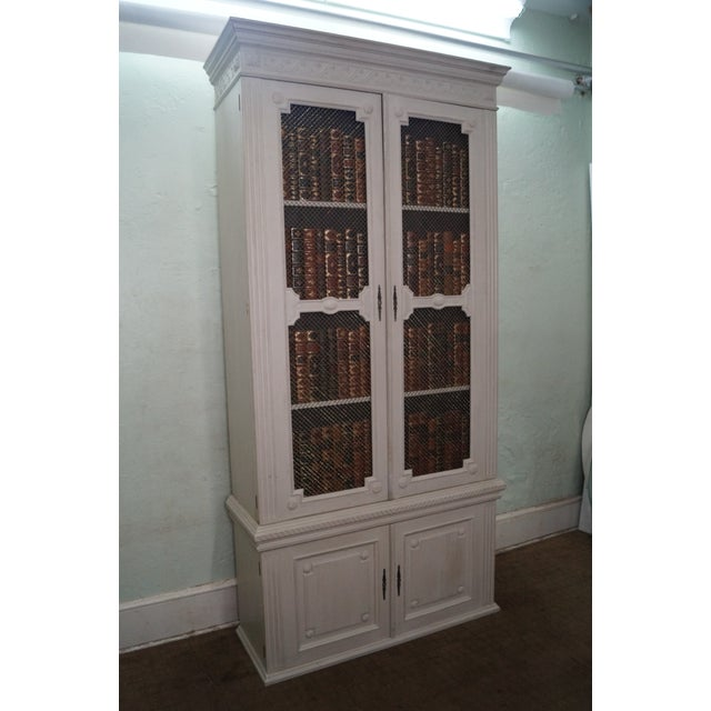 Image of Custom Made Regency Style Library Bookcase Cabinet