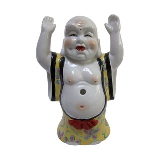 Signed Ceramic Laughing Buddha
