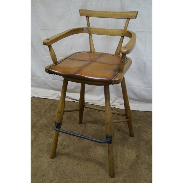 Jonathan Charles Architect's Arm Chair - Image 9 of 10