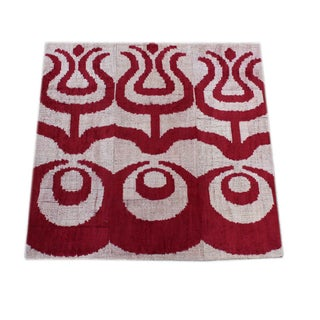 "Silk Velvet Red ""Triple Ottoman"" Accent Pillow"