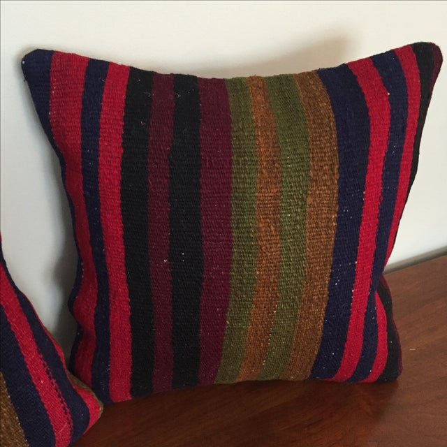 Throw Pillows King Size Bed : Vintage Kilim Throw Pillow (One Left, on Left) Chairish