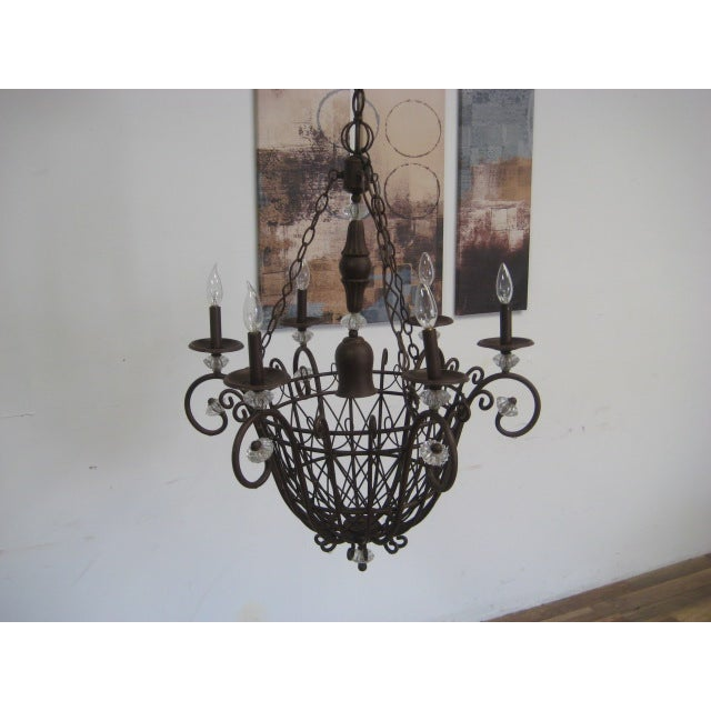 Oil Rubbed Bronze Candle Style Chandelier - Image 6 of 8
