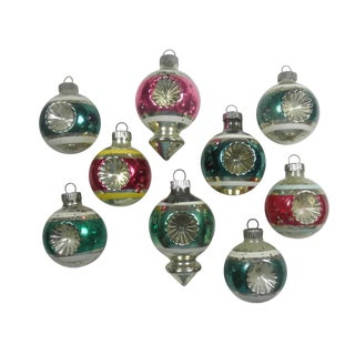 Double-Indent Ornaments - Set of 9