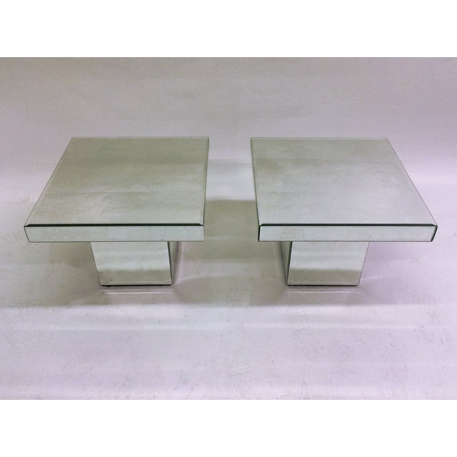 Image of Mirrored End Tables - A Pair