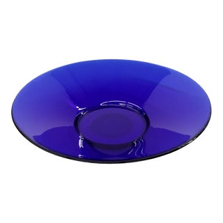 Vintage Cobalt Blue Salad Bowl