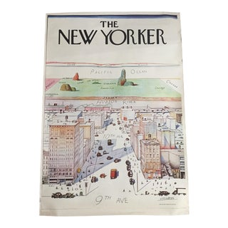 The New Yorker by Saul Steinberg 1976 Poster