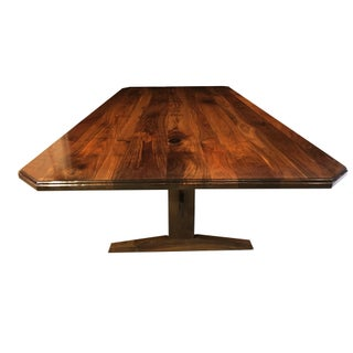 Nakashima Style Handcrafted Dark Walnut Dining Table